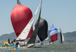 J/105s sailing San Francisco