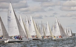 J/80 fleet starting at NA's in Annapolis