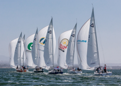 J/105s sailing Masters in South Bay San Diego