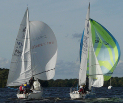 Irish J/24s sailing fall series on Lough Erne