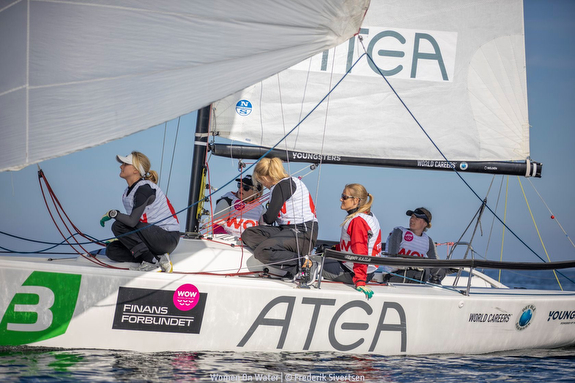 J/70 women's team sailing WOW in Denmark