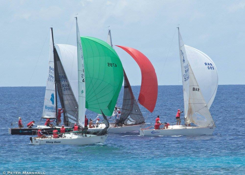 J/24s sailing off Barbados