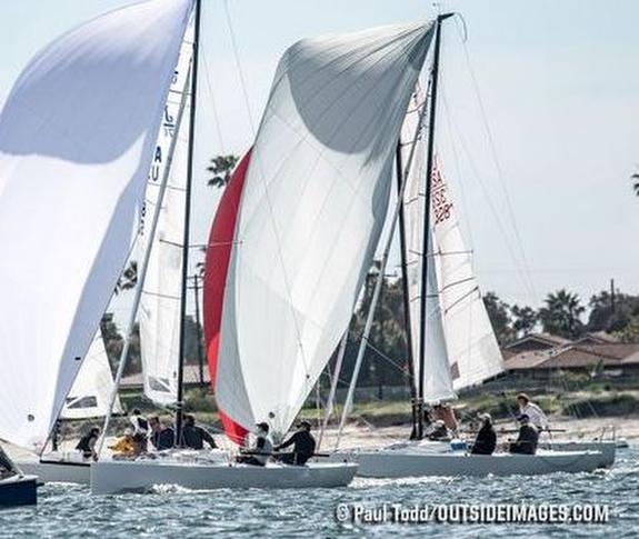 J/70s sailing off San Diego, CA