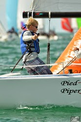 Gannon Troutman- skippering J/70 PIED PIPER at Key West