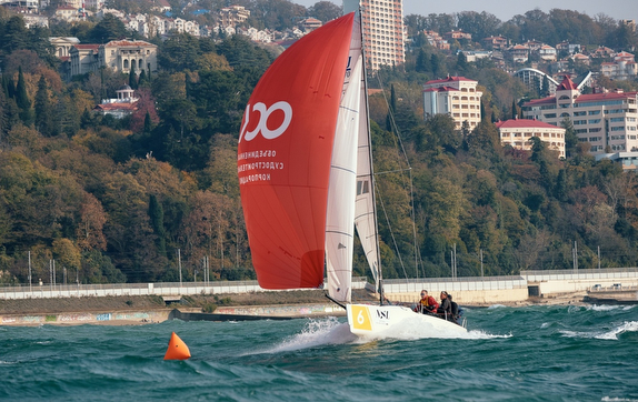J/70s sailing off Sochi, Russia on Black Sea