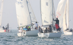 J/24 winter series in Italy