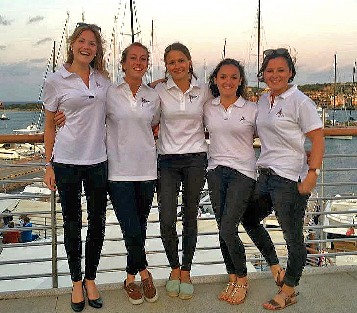 German J/70 sailing team at Porto Cervo, Sardinia