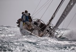 J111 powering upwind off Key West