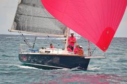 J/92 sailing off Palm Beach, Florida