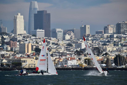J/22s sailing Nations Cup match racing San Francisco