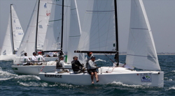 J/70 sailing Long Beach start