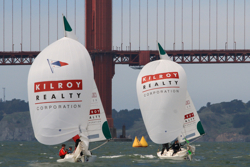 J/22s sailing San Francisco match race