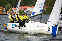 J/70 Swedish crew at Sweden Sailing League