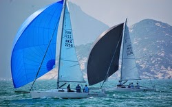 J/80s sailing off Hong Kong