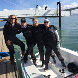 J/70 women's sailing team- San Francisco, CA