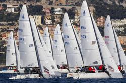 J70s sailing off Monaco