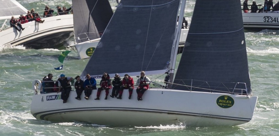J/122 sailing off Cowes, England
