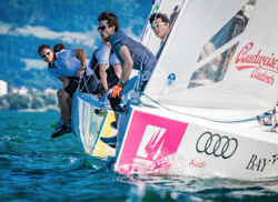 J/70 german sailing league upwind