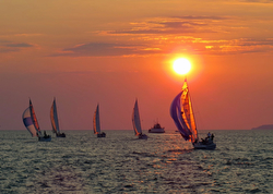sunset sail on Lake Erie
