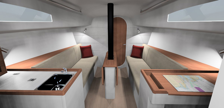 J/99 Short-handed Offshore Speedster interior 3D