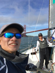 J/111 sailing Double Farallones race