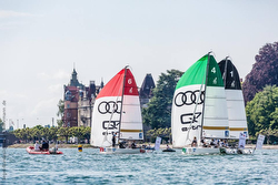 J/70 sailing league action