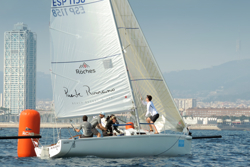 J/80 Spain sailing off Barcelona