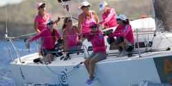 J/109 women's team in St Barth