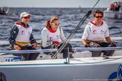 J/70 sailors racing in St Petersburg, Russia