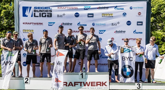 German J/70 Sailing League podium