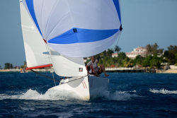 J/22 sailing off Montego Bay, Jamaica