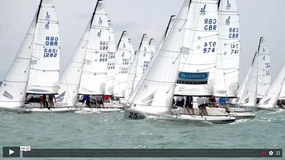 J/70s sailing UK Nationals