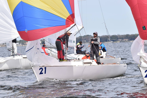 J/22 sailboat racing off Florida