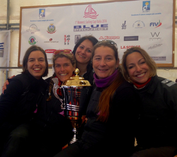 J/80 VelaRosa sailing team- winners of Women's Italia Cup