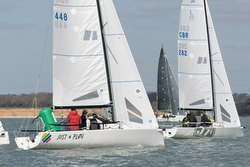J70s sailing on the Solent