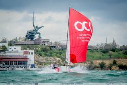 J/70 sailing off Sevastopol, Crimea