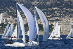 J/70s sailing off YC Monaco