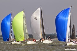 J/fleet sailing on Solent