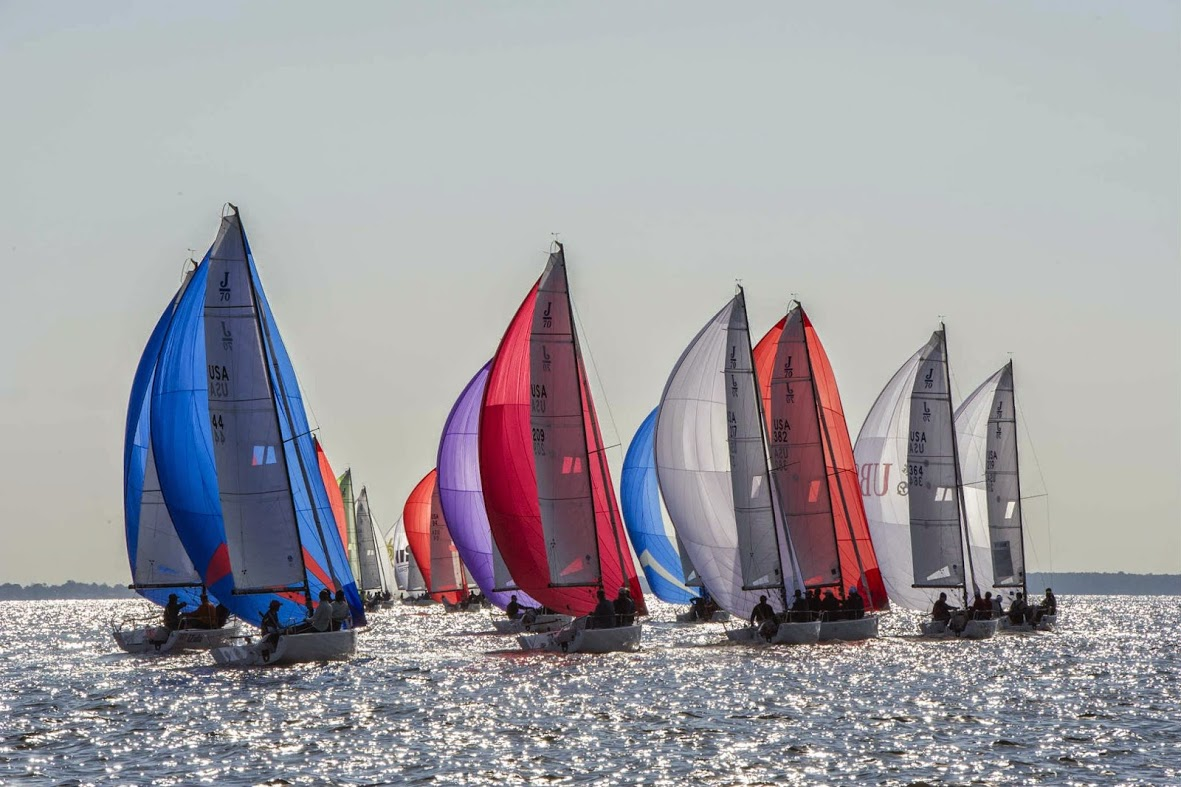 J/70s sailing Fall Brawl off Annapolis