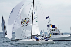 J/70s finishing at AYC Fall series