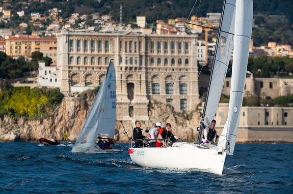 J/70s sailboats- racing off Monte Carlo, Monaco