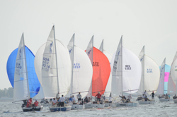 J/24s sailing Easter Regatta- Lake Murray, SC