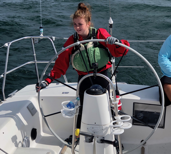 J/105 young girl skipper