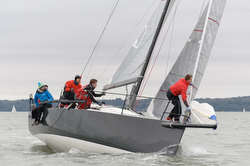 J/111 sailing Warsash Spring series- sponsor Helly Hansen