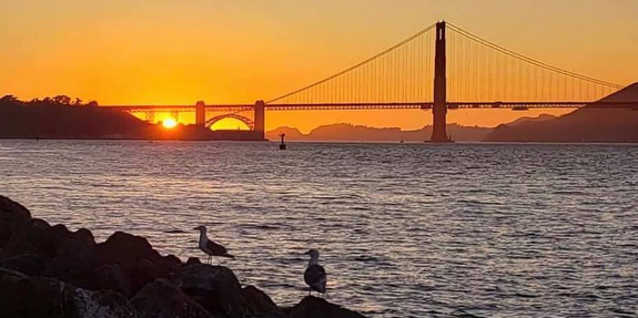 sunset on San Francisco Bay