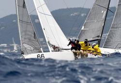 J/80 sailing St Thomas