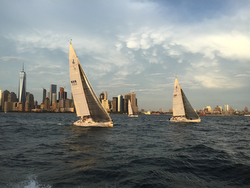 J/105s sailing off New York City