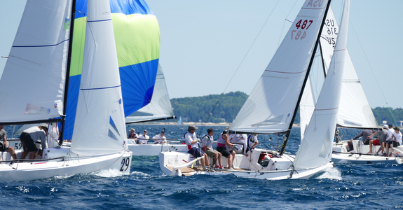 J/70 sailing Harbor Springs, MI