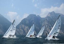 J/70s sailing Lake Garda, Italy