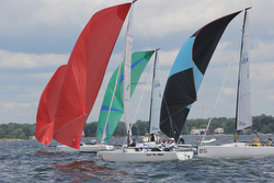 Women J/70 sailors- racing Worlds